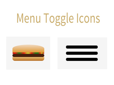 Menu Toggle Icons